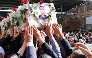 شهید مدافع وطن در آغوش خاک آرام گرفت