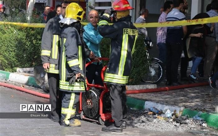 آتش سوزی برج اداری و تجاری آراکس مشهد