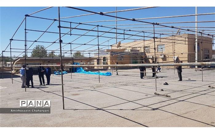 آماده سازی موکب های عزاداری  اربعین برای استقبال از زائران افغانستانی