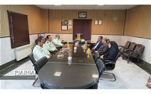 گرامیداشت هفته نیروی انتظامی با حضور مدیر آموزش و پرورش منطقه۱۸