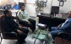 دیدار اعضای شورای معاونین آموزش و پرورش ناحیه یک شهرری با رئیس کلانتری دولت آباد