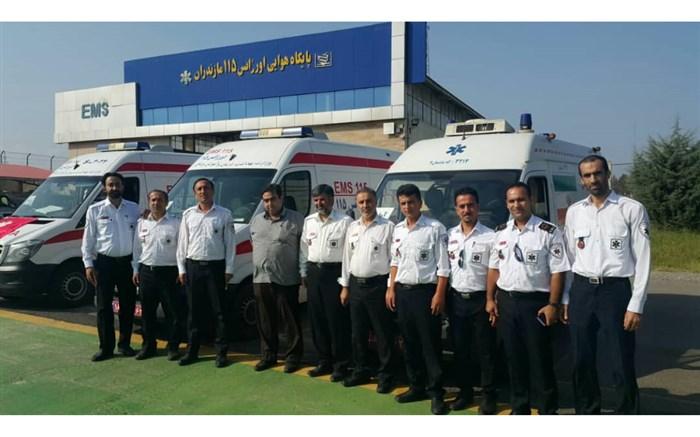 اعزام تیم فوریتهای پزشکی از اورژانس مازندران به مرزهای غرب کشور