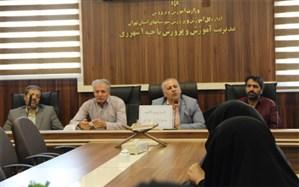 جلسه  معاون پژوهش و برنامه ریزی نیروی انسانی آموزش و پرورش ناحیه یک ری با مدیران جدیدالانتصاب