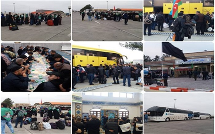 ورود زائر اتباع خارجی به پایانه مرزی بیله سوار