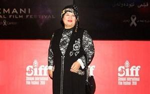 تصویر/ پوران درخشنده با لباس کردی در جشنواره سلیمانیه