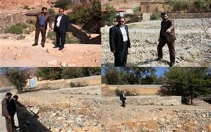 بازدید سرپرست فرمانداری شهرستان تفت از رودخانه فصلی منطقه ده بالا
