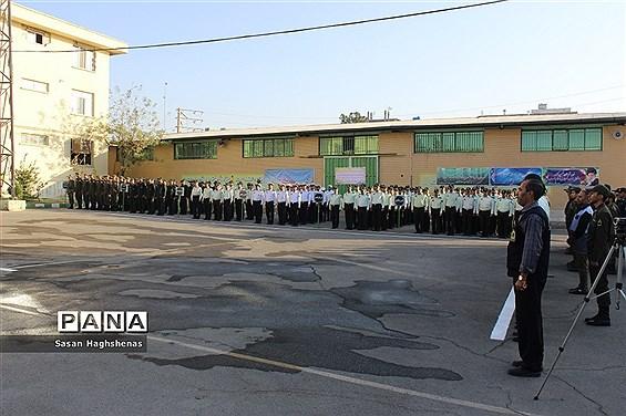 مراسم صبحگاه مشترک فرماندهی نیروی انتظامی شهرستان اسلامشهر