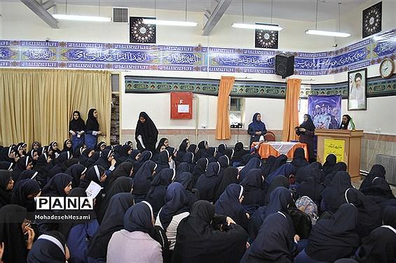 هفته نیروی انتظامی در دبیرستان نمونه کاشی نیلوفر
