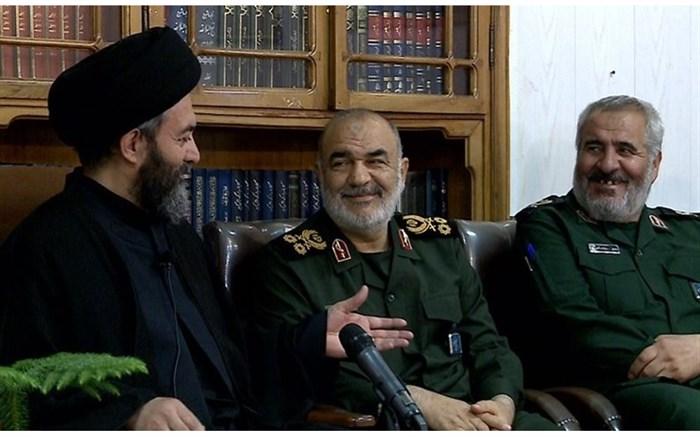 آیت الله سید حسن عاملی دردیدار فرمانده کل سپاه پاسداران انقلاب اسلامی