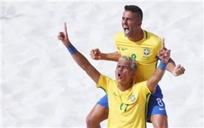 فوتبال ساحلی بازیهای ساحلی قهرمانی جهان؛ برزیل مانور قدرت داد