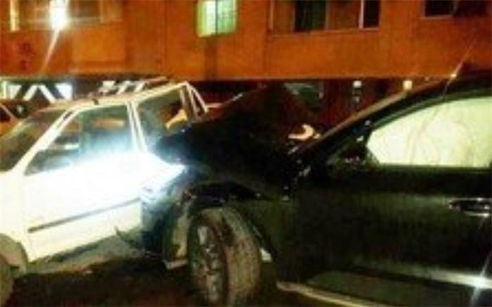 تصادف دختر پورشه سوار