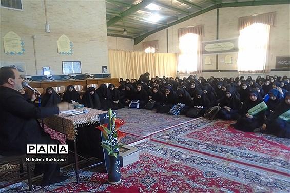مراسم عزاداری اربعین حسینی در دبیرستان دخترانه نرجسیه