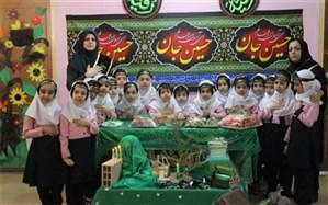 سفره ای با عشق اهل بیت  در دبستان غیر انتفاعی  سارا بوشهر برگزار شد