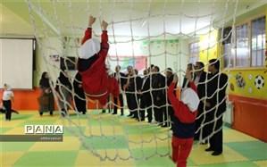 کلاس درس تربیت بدنی در آموزشگاه دخترانه پروین شهرستان بجنورد افتتاح شد