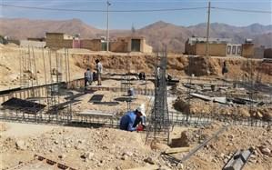 ساخت اولین مدرسه در روستای سرود شهرستان کوار