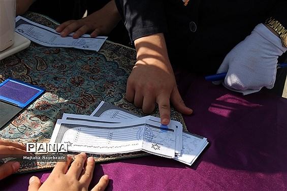انتخابات شوراهای دانش آموزی در منطقه تبادکان مشهد
