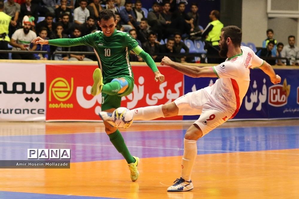 دیدار تیمهای ایران و ترکمنستان از سری بازی های مرحله مقدماتی فوتسال آسیا