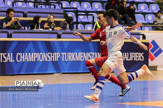دیدار تیمهای ازبکستان و افغانستان از سری بازیهای مرحله مقدماتی فوتسال آسیا