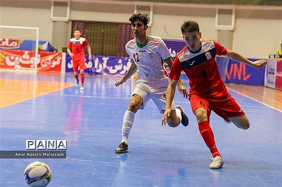 دیدار تیمهای ایران و قرقیزستان از سری بازیهای مرحله مقدماتی فوتسال آسیا