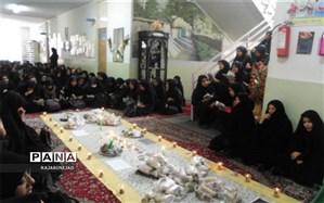 برگزاری مراسم عزاداری در دبیرستان فولادگر ابرکوه