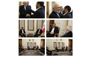 دیدار و گفتوگوی سخنگوی انصارالله یمن با ظریف + تصویر
