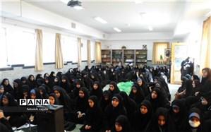 عزاداری دانش آموزان دبیرستان صدرا ابرکوه به مناسبت شهادت امام رضا(ع)