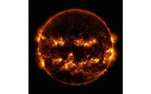 عکس روز ناسا؛ ظاهر ترسناک خورشید به مناسب جشن هالووین