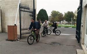 برگزاری برنامه یک روز با دوچرخه برادران و یک روز بدون خودرو برای خواهران اداره کل آموزش و پرورش زنجان
