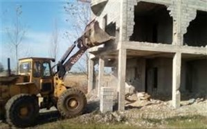 بیش از صد ساختمان غیر مجاز در منطقه 4 حصار کرج تخریب شد
