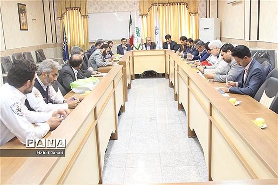 جلسه کارگروه برگزاری مانور زلزله استان قم
