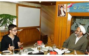 تقدیر رئیس سازمان پژوهش از آرین غلامی، شطرنجباز ارزشی ایران