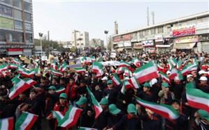 حضور گسترده دانش آموزان پاکدشت در راهپیمایی 13آبان
