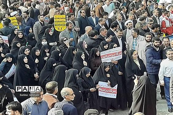 حضور اقشار مردم در راهپیمایی 13 آبان