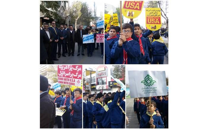 برگزاری راهپیمایی باشکوه ۱۳ آبان ماه در اردبیل