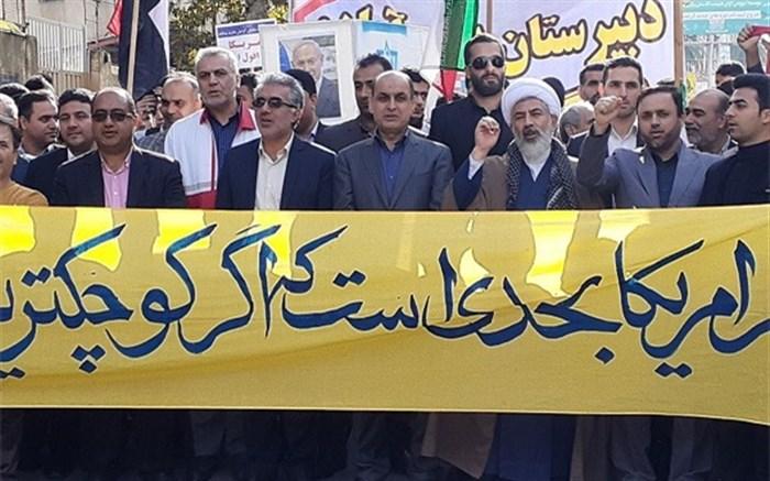 طنین فریاد استکبار ستیزی دانش آموزان گلستانی در استان پیچید