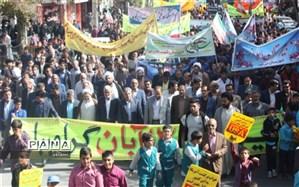 راهپیمایی یوم الله ۱۳ آبان در شهرستان ابرکوه برگزار شد