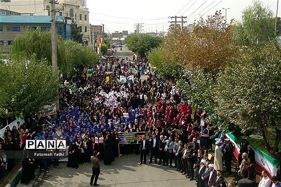 برگزاری  راهپیمایی یوم الله ۱۳ آبان در چهاردانگه