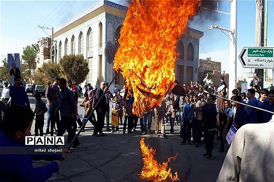 راهپیمائی یوم الله 13 آبان در شهرستان اشکذر