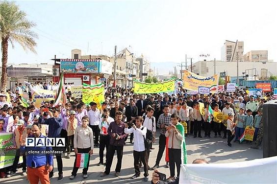 راهپیمایی روز 13 آبان در دشتستان