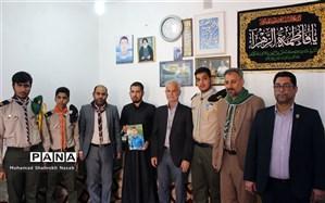 دیدار مسئولین سازمان دانش آموزی خوزستان با خانواده  دانش آموز شهید حادثه تروریستی اهواز