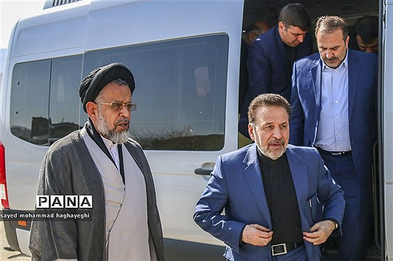 سفر رئیس دفتر رئیس جمهور و وزیر اطلاعات به لامرد فارس
