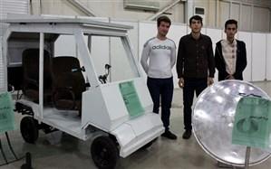 خودروی خورشیدی دانش آموزان آذربایجان شرقی در نمایشگاه بین المللی ربع رشیدی رونمایی شد
