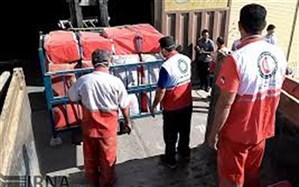 هلال احمر زنجان 200 تخته چادر به مناطق زلزله زده آذربایجان شرقی ارسال کرد