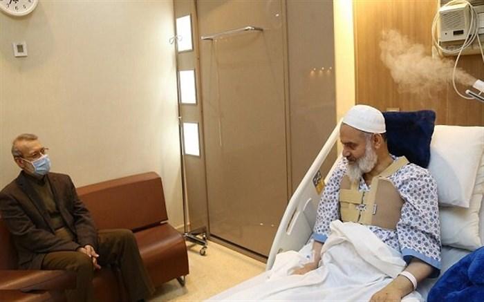 لاریجانی از آیت الله حسینی بوشهری عیادت کرد