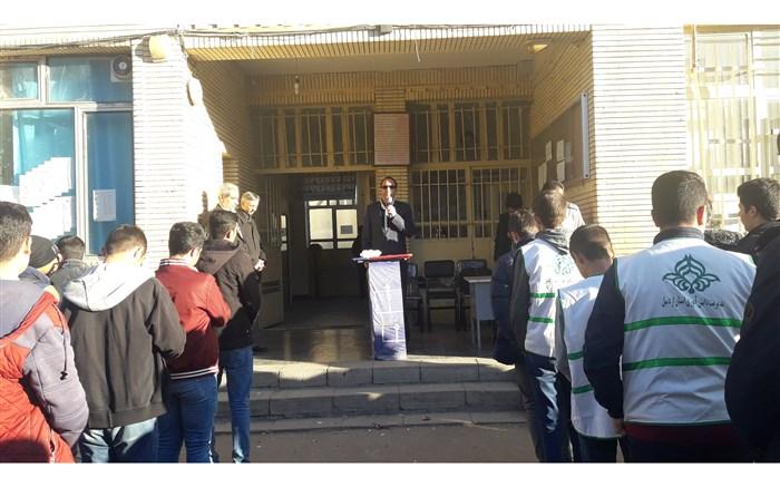 برگزاری مراسم تحلیف اعضای پیشتازان ناحیه ۲ اردبیل