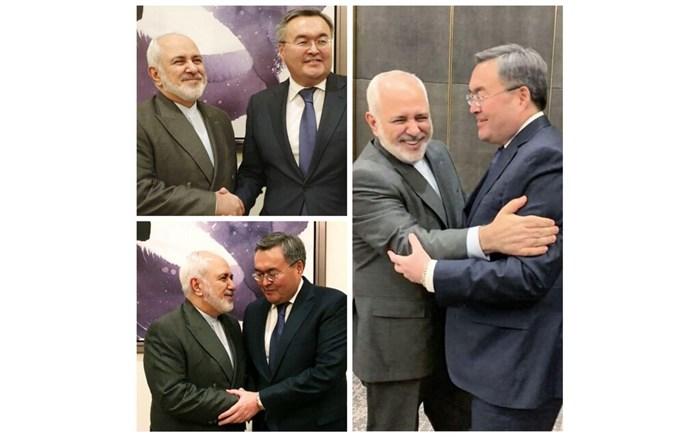 رایزنی ظریف با وزیر امورخارجه قزاقستان