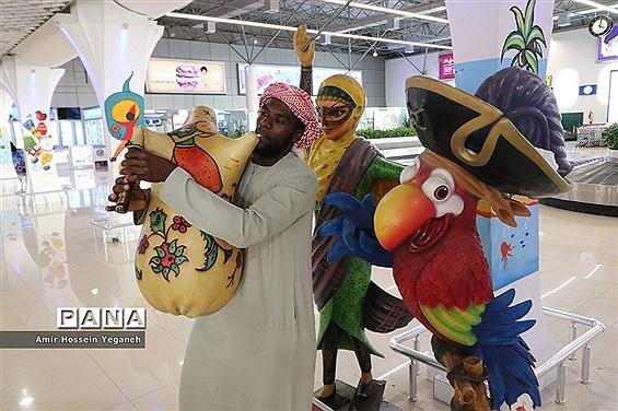 استقبال فرودگاهی از مسافران ورودی در روز کیش