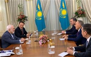 دیدار ظریف با رئیسجمهوری قزاقستان