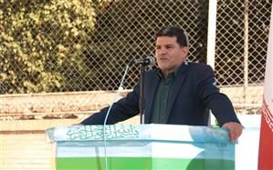 آیین افتتاحیه المپیاد ورزشی  در دبیرستان ملک ثابت یزد