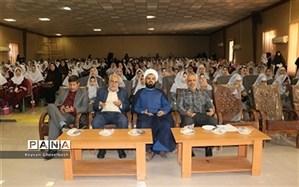 تجمع هزار نفری دانش آموزان شهرستان امیدیه به شکرانه عید بیعت با امام زمان(عج)